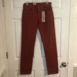 New With Tags Levi Slim Fit 511 Men's Red Jeans